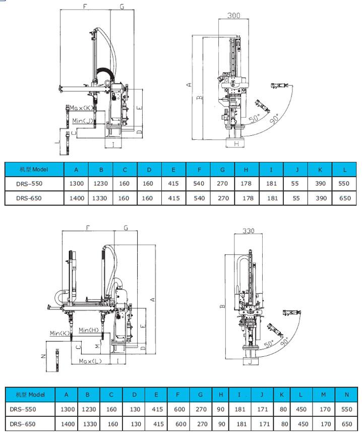 立式注塑机专用浇口取出机械手